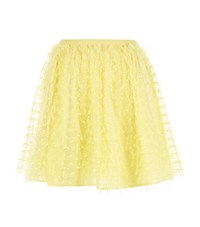 Red Valentino Dotty Lace Tiered Mini Skirt Female