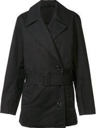 Christophe Lemaire Short Trench Coat Black