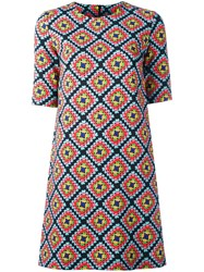 Ultrachic Geometric Print T Shirt Dress