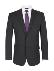Pierre Cardin Twill Single Breasted Suit Jacket Charcoal