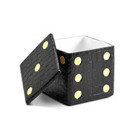 L'objet Dice Decorative Box Black Croc