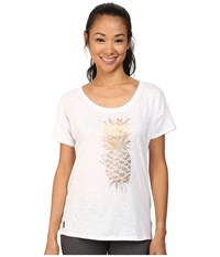 Lole Keira Short Sleeve Top White Pi A Colada Women's T Shirt