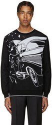 Christopher Kane Black Car Crash Sweater