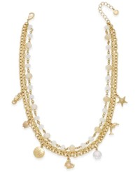 Charter Club Gold Tone Sea Charm Multi Strand Necklace Only At Macy's