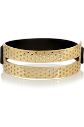 Marc By Marc Jacobs Perf Ection Gold Tone And Rubber Bracelet
