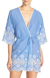 Women's In Bloom By Jonquil Embroidered Cotton Robe