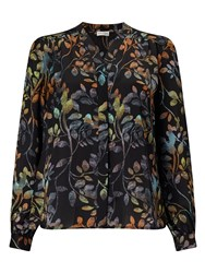 Eastex Osbourne Leaves Print Blouse Multi Coloured
