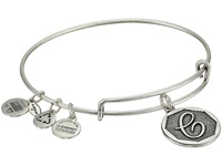 Alex And Ani Initial C Charm Bangle Rafaelian Silver Finish Bracelet