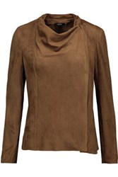 Raoul Skater Faux Suede Jacket Brown