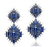 Nam Cho 18K Palladium White Gold Blue Sapphires 9.83 Cts White Diamonds 1.96 Cts