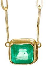 Judy Geib Women's Square Pendant Necklace Green