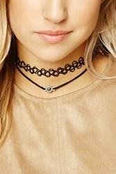 Forever 21 Faux Stone Tattoo Choker Set