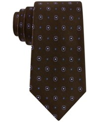 Club Room Men's Neat Dot Tie Only At Macy's Brown