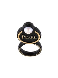 Theatre Products Faux Pearl Ring Black