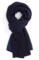 Men's Vince 'Lux' Wool And Cashmere Scarf Blue Twilight Blue