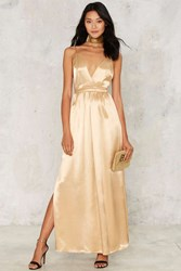 After Party By Nasty Gal Wanna Take My Place Maxi Dress Gold