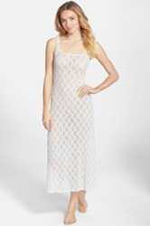 Only Hearts Club Stretch Lace Tank Nightgown White