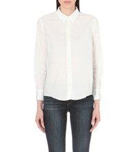 Izzue Pleated Back Cotton Shirt Whx