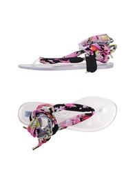 Blumarine Beachwear Thong Sandals