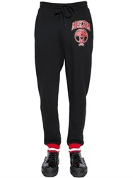 Moschino Logo Detial Printed Cotton Jogging Pants
