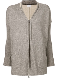 Transit Slub Knit Cardigan Grey