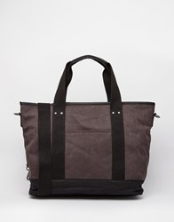 New Look Tote Bag In Canvas Charcoal