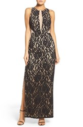 Aidan Mattox Women's By Illusion Inset Lace Gown
