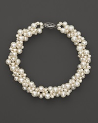 Bloomingdale's Cultured Freshwater Pearl Woven Bracelet In 14K White Gold