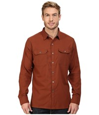 Kuhl Autonomous Long Sleeve Shirt Sundried Tomato Men's Long Sleeve Button Up Red