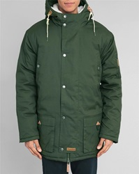Knowledge Cotton Apparel Khaki Hooded Parka