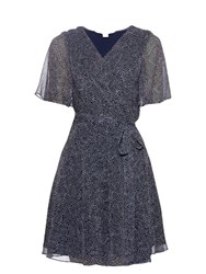 Diane Von Furstenberg Katina Dress Navy White