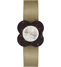 Orla Kiely Poppy Stainless Steel Watch Cream