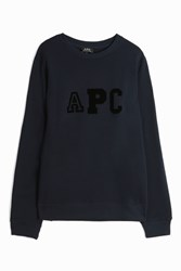 A.P.C. Apc Logo College Sweater Navy