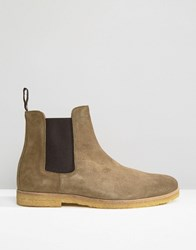 Religion Suede Chelsea Boots Green