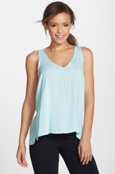 Hard Tail Split Racerback Tank Blue