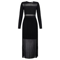 Supertrash Sheer Skirt Maxi Dress Black