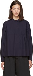 Chimala Navy Rounded Collar Shirt