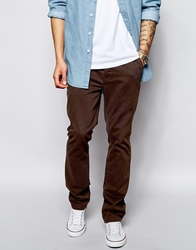 Only And Sons Chino In Regular Fit Brown