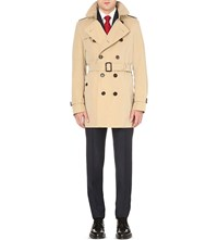 Burberry Modern Fit Cotton Twill Trench Coat Brown