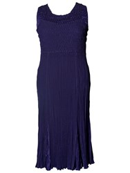 Chesca Crush Pleated Dress Violet