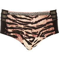 River Island Womens Ri Plus Tiger Print Bikini Bottoms