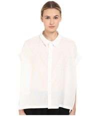 Y's By Yohji Yamamoto Roll Sleeve Button Up White