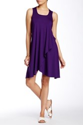 Go Couture Solid Tank Dress Purple