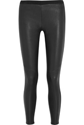Joie Vierra Paneled Leather And Stretch Jersey Leggings