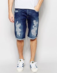 G Star G Star Denim Shorts 3301 Tapered Stretch Medium Aged Distress Restored 70 Med Aged Restored 70