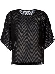 Iro Chevron Effect Blouse Black