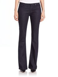 Elie Tahari Bailee Wide Leg Denim Pants Dark Night