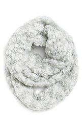 Renees Accessories Marled Chunky Knit Infinity Scarf Ivory Mix