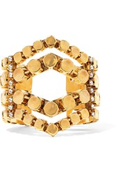 Erickson Beamon Awaken Gold Plated Crystal Cuff