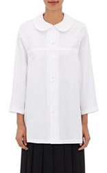Comme Des Garcons Women's Cotton Dolman Sleeve Blouse White